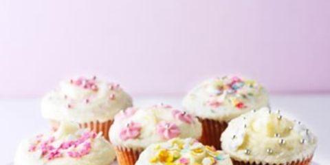 Food, Sweetness, Cupcake, Dessert, Baked goods, Cuisine, Ingredient, Pink, Baking cup, Recipe,
