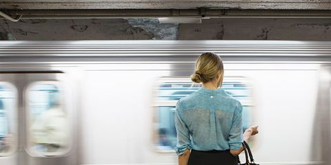Brown, Human body, Human leg, Shoulder, Transport, Standing, Photograph, Joint, White, Bag,