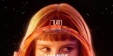 Lip, Finger, Hand, Eyelash, Amber, Orange, Long hair, Beauty, Space, Blond,