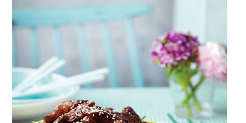 Food, Cuisine, Dish, Recipe, Meat, Beef, Ingredient, Mongolian beef, Bulgogi, Plate,
