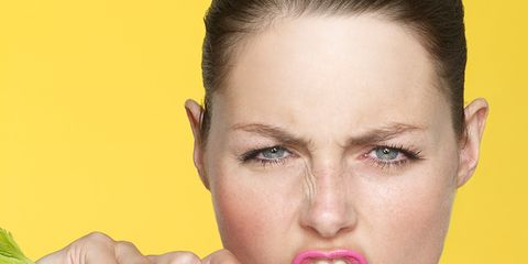 Ear, Lip, Eyebrow, Leaf vegetable, Eyelash, Jaw, Organ, Beauty, Neck, Earrings,