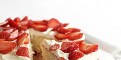 Food, Cuisine, Sweetness, Ingredient, Baked goods, Dessert, Finger food, White, Fruit, Red,
