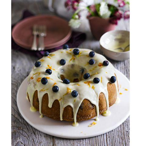 Buttermilk blueberry bundt