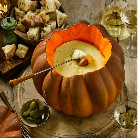 Pumpkin fondue - cheese fondue recipe