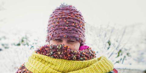 Winter, Textile, Wool, Magenta, Purple, Headgear, Woolen, Wrap, Neck, Knitting,
