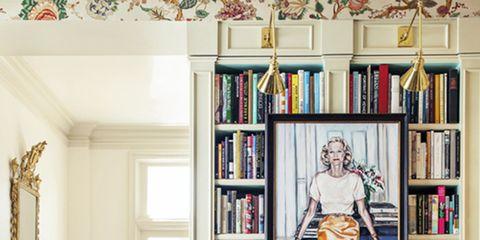 Room, Shelf, Interior design, Shelving, Furniture, Living room, Bookcase, Publication, Home, Interior design,
