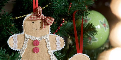 wondering how to make your own homemade christmas tree decorations we love this adorable gingerbread man heres how to create one of your own