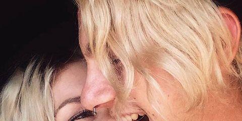 Nose, Mouth, Lip, Cheek, Forehead, Tooth, Interaction, Eyelash, Love, Romance,