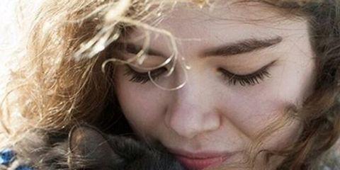 Human, Lip, Hairstyle, Carnivore, Whiskers, Small to medium-sized cats, Cat, Mammal, Felidae, Iris,