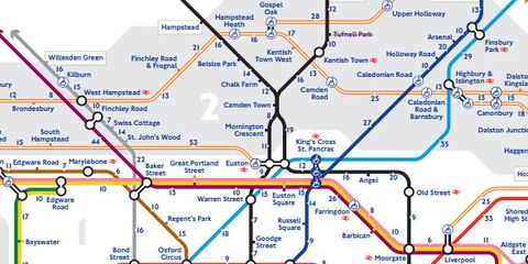 London Stations Map.Tfl Releases Walking Map Of The London Underground