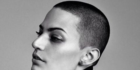Ear, Lip, Hairstyle, Collar, Forehead, Eyebrow, Jacket, Style, Eyelash, Fashion,