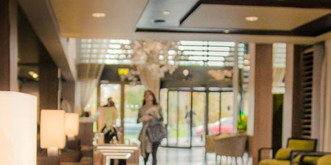 Lighting, Floor, Interior design, Flooring, Ceiling, Room, Couch, Interior design, Hardwood, Lobby,