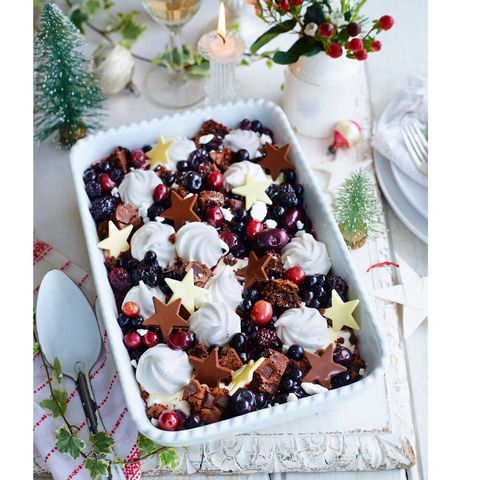 best christmas desserts black forest mess