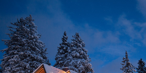 Winter, Freezing, Building, House, Home, Snow, Woody plant, Slope, Real estate, Roof,