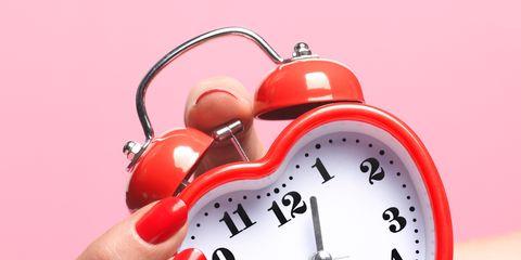 Finger, Red, Pink, Nail, Carmine, Watch, Clock, Circle, Heart, Peach,