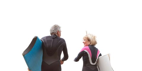 Fun, People on beach, Standing, People in nature, Beach, Vacation, Sand, Waist, Wetsuit, Shore,