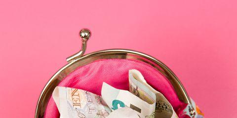 Pink, Magenta, Basket, Present, Label, Ribbon, Still life photography,