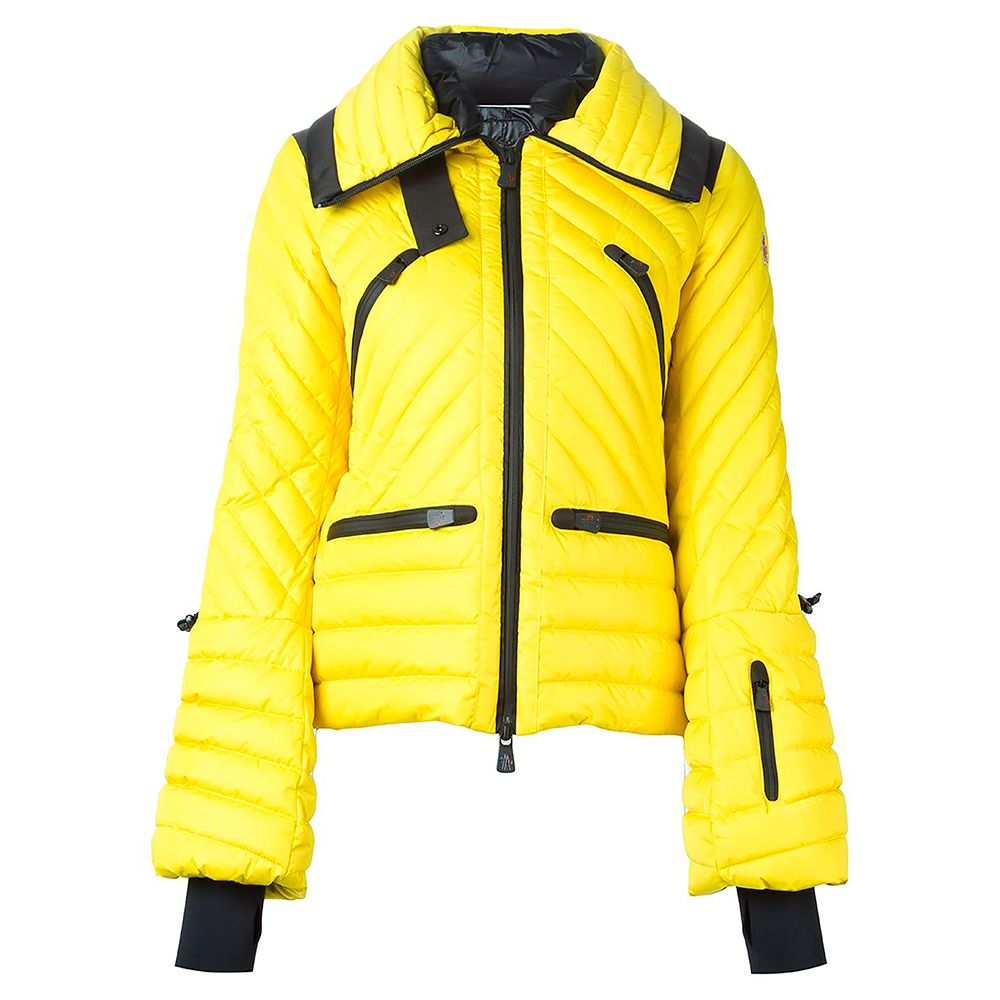 moncler yellow ski jacket