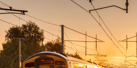 Track, Mode of transport, Transport, Overhead power line, Railway, Electricity, Rolling stock, Electrical network, Cable, Train,