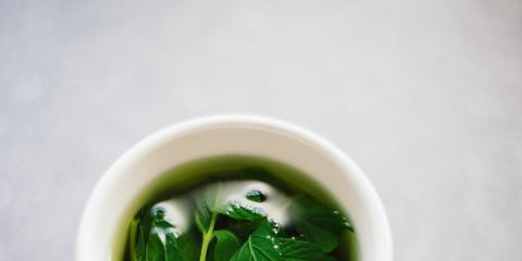 Green, Cup, Drink, Drinkware, Serveware, Ingredient, Leaf, Dishware, Leaf vegetable, Coffee cup,
