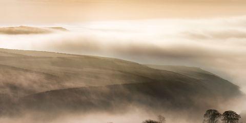 Nature, Natural landscape, Atmosphere, Atmospheric phenomenon, Mist, Landscape, Haze, Morning, Fog, Wilderness,