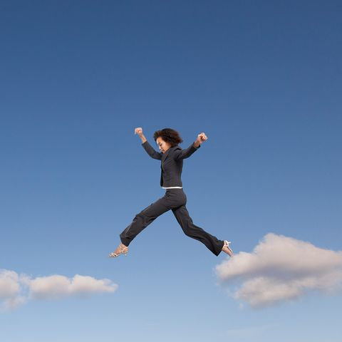 Jumping, Sky, Happy, Fun, Balance, Cloud, Jumping jack, Exercise, Leisure, Sports,