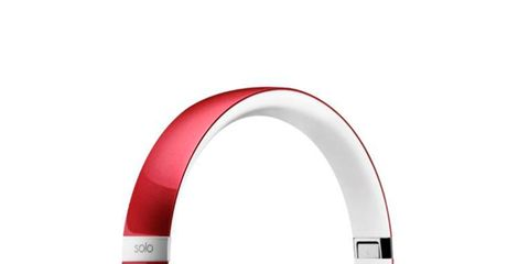 Audio equipment, Red, Electronic device, Technology, Gadget, Font, Audio accessory, Circle, Output device, Headphones,
