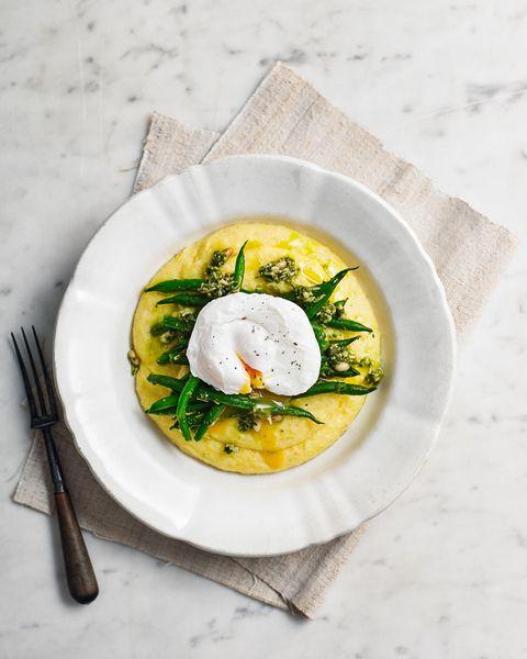 best egg recipes polenta and poached egg bowl