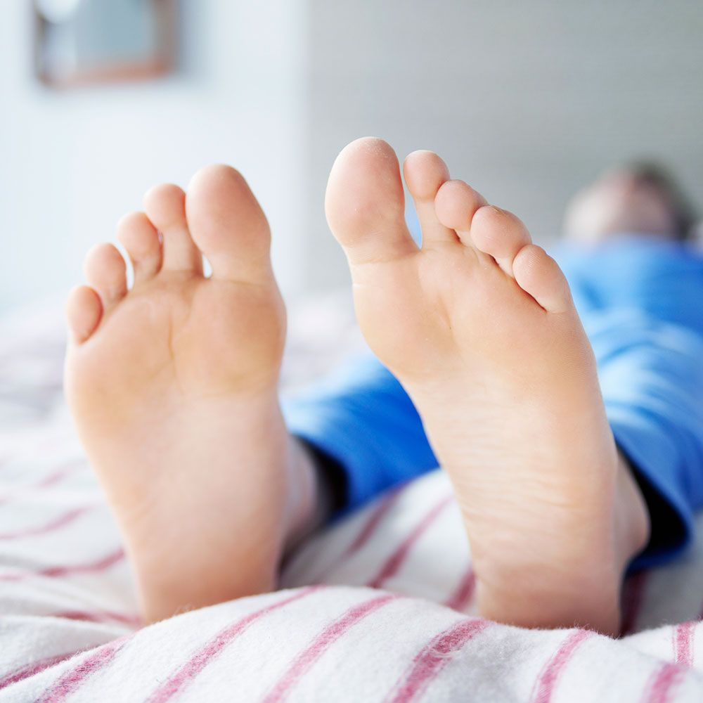 Mature feet stink story