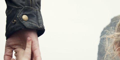 Human, Finger, People in nature, Wrist, Denim, Street fashion, Nail, Pocket, Gesture, Back,