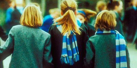 Green, Sleeve, Outerwear, Standing, Winter, Interaction, Street fashion, Fashion, Back, Pattern,