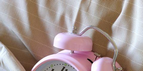Pink, Peach, Alarm clock, Lavender, Clock, Still life photography, Home accessories, Quartz clock, Watch, Measuring instrument,