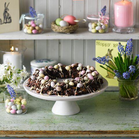 chocolate no bake wreath