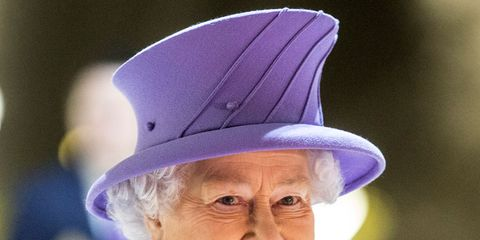 Clothing, Mouth, Chin, Hat, Purple, Happy, Facial expression, Fashion accessory, Lavender, Violet,