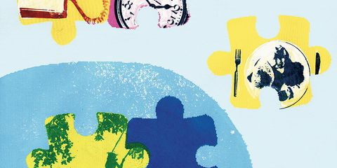 Illustration, Art, Jigsaw puzzle, Graphic design, World, Child art, Fictional character, Puzzle,