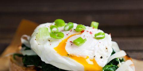 Dish, Food, Cuisine, Ingredient, Breakfast, Poached egg, Eggs benedict, Brunch, Produce, Finger food,