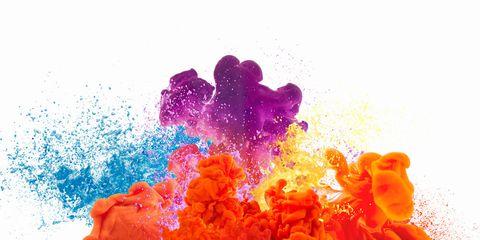 Colorfulness, Red, Orange, Purple, Magenta, Art, Art paint, Violet, Pattern, Paint,