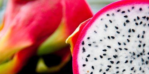Produce, Pink, Costa Rican pitahaya, Magenta, Carmine, Fruit, Colorfulness, Ingredient, Dragonfruit, Natural foods,