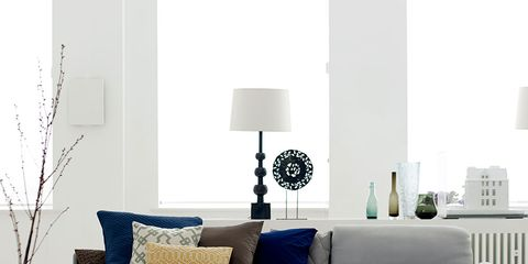 Blue, Room, Interior design, Textile, Wall, Furniture, Home, Living room, Linens, Floor,