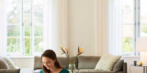Interior design, Room, Window, Living room, Floor, Home, Flooring, Comfort, Couch, Furniture,