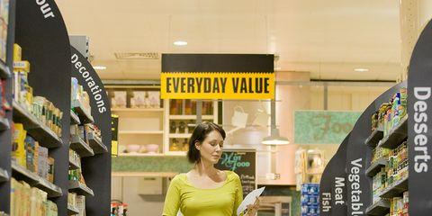 Retail, Shelf, Trade, Shelving, Cart, Service, Supermarket, Customer, Shopping cart, Convenience store,