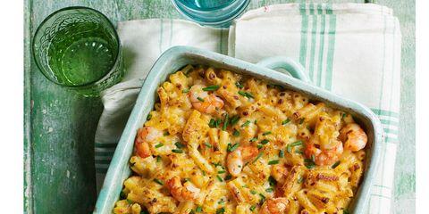Dish, Food, Cuisine, Macaroni and cheese, Ingredient, Macaroni, Comfort food, Tuna casserole, Rotini, Produce,