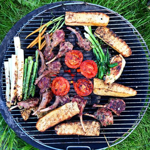 Barbecue, Grilling, Barbecue grill, Food, Cuisine, Dish, Outdoor grill, Grillades, Cooking, Roasting,