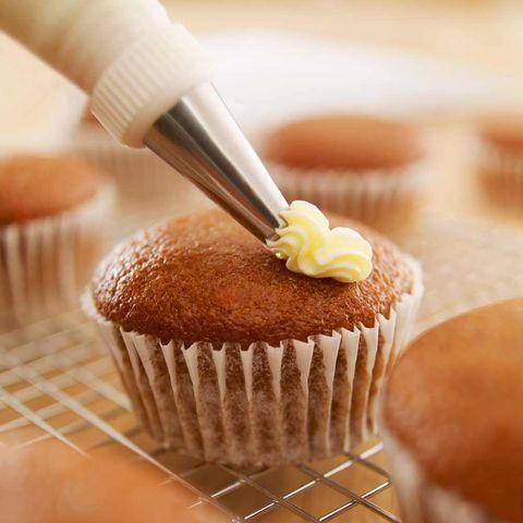 Food, Cupcake, Buttercream, Icing, Muffin, Dessert, Baking, Cake, Baking cup, Dish,