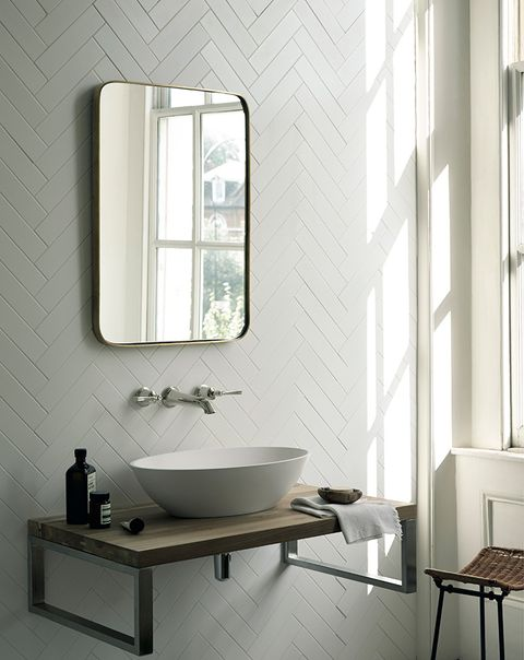 Image Fired Earth Tiles By 6 X 25 Cm Architecture White Matt 54 65 Per Square Metre