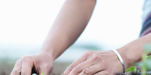 Human, Finger, Hand, Soil, Wrist, People in nature, Nail, Bracelet, Gesture, Gardening,