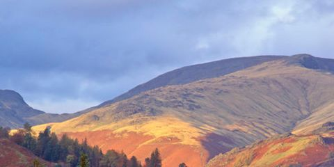 Mountainous landforms, Highland, Hill, Landscape, Mountain, Mountain range, Rural area, Valley, Ridge, House,