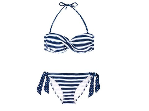 e34c43ca2b518f Bandeau bikini tops can enhance and shape your bust, and this one will help  create a great cleavage! The horizontal stripes also enhance curves, ...