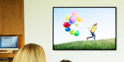 Human, Room, Display device, Comfort, Child, Electronic device, Flat panel display, Toddler, Balloon, Party supply,
