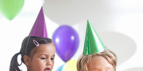 Party hat, Event, Sweetness, Cake, Dessert, Party supply, Child, Baked goods, Pink, Party,